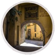 Portal De Valldigna In El Carmen Round Beach Towel