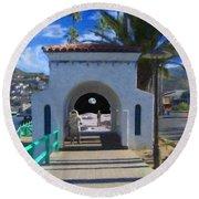 Portal Round Beach Towel