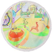 Portals And Perspectives Round Beach Towel