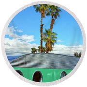 Portholes Palm Springs Round Beach Towel