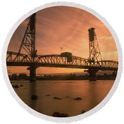 Portland Bridge Round Beach Towel