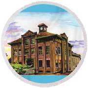 Portland Gas And Coke Building Without Border Round Beach Towel
