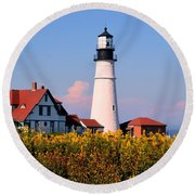 Portland Light Round Beach Towel