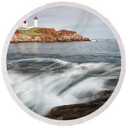Portland Lighthouse Round Beach Towel