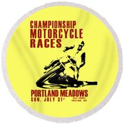 Portland Meadows Round Beach Towel