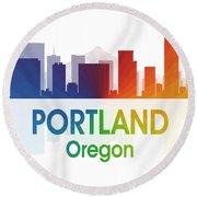 Portland Or Round Beach Towel