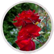 Portland Roses #6 Round Beach Towel