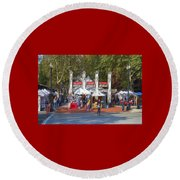 Portland Saturday Market Round Beach Towel