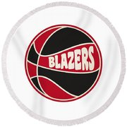Portland Trail Blazers Retro Shirt Round Beach Towel