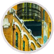 Portland Water Tower II Round Beach Towel