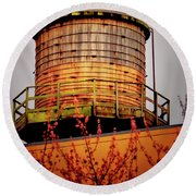 Portland Water Tower IIi Round Beach Towel
