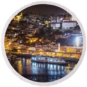 Porto, Portugal Round Beach Towel