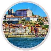 Porto Portugal Round Beach Towel