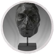 Portrait Mask Of Etienne Carjat Round Beach Towel