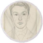 Portrait Of A Boy, Jan Veth, 1874 - 1925 Round Beach Towel
