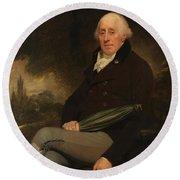 Portrait Of A Gentleman Beechey, William Round Beach Towel