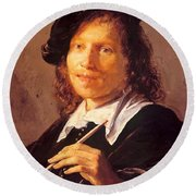 Portrait Of A Man 1640 Round Beach Towel