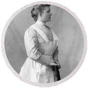 Portrait Of A Nurse Round Beach Towel