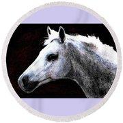 Portrait Of A Pale Horse Round Beach Towel