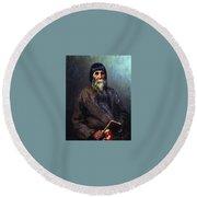 Portrait Of A Peasant 1889 Ilya Repin Round Beach Towel
