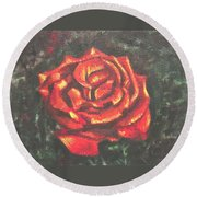 Portrait Of A Rose 2 Round Beach Towel