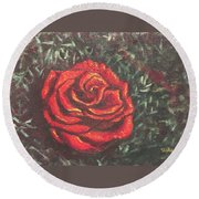 Portrait Of A Rose 4 Round Beach Towel