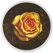 Portrait Of A Rose 5 Round Beach Towel