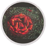 Portrait Of A Rose 6 Round Beach Towel
