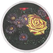 Portrait Of A Rose 7 Round Beach Towel