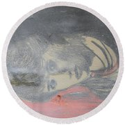 Portrait Of A Theatre Actress Round Beach Towel