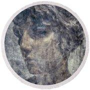 Portrait Of A Woman Round Beach Towel