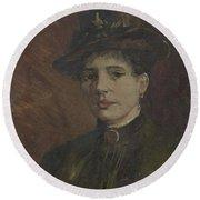 Portrait Of A Woman Paris  March  June 1886 Vincent Van Gogh 1853  1890 Round Beach Towel
