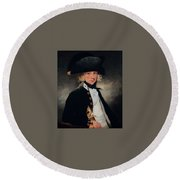 Portrait Of A Young Midshipman Sir Henry William Beechey Round Beach Towel