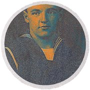 Portrait Of A Young  Wwi Soldier Series 10 Round Beach Towel