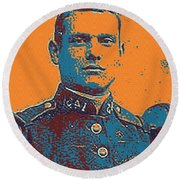 Portrait Of A Young  Wwi Soldier Series 12 Round Beach Towel