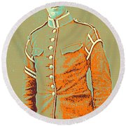 Portrait Of A Young  Wwi Soldier Series 14 Round Beach Towel