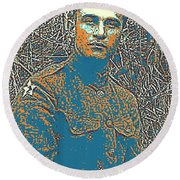 Portrait Of A Young  Wwi Soldier Series 16 Round Beach Towel