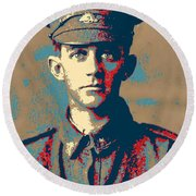 Portrait Of A Young  Wwi Soldier Series 19 Round Beach Towel