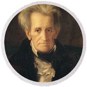 Portrait Of Andrew Jackson Round Beach Towel