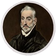 Portrait Of Antonio De Covarrubias Round Beach Towel