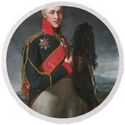 Portrait Of Arkady Alexandrovich Suvorov Round Beach Towel
