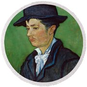 Portrait Of Armand Roulin Round Beach Towel