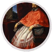 Portrait Of Cardinal Roberto Ubaldini 1625 Round Beach Towel