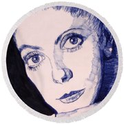 Portrait Of Catherine Round Beach Towel