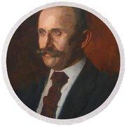 Portrait Of Charles Gruppe 1904 Round Beach Towel