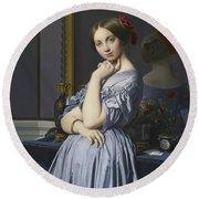 Portrait Of Comtesse D'haussonville Round Beach Towel