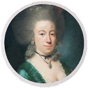 Portrait Of Countess Sparre Round Beach Towel