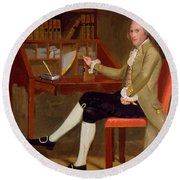 Portrait Of David Baldwin 1790 Round Beach Towel