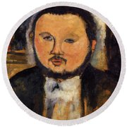 Portrait Of Diego Rivera 1914 Round Beach Towel