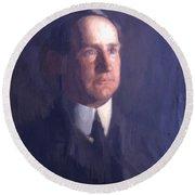 Portrait Of Frank Lindsay Greenwalt 1903 Round Beach Towel